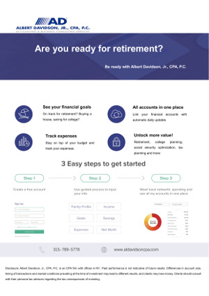 Financial Planning PDF Flyer